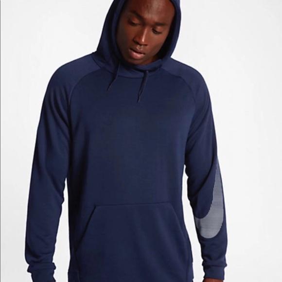 nike training dry swoosh hoodie in black